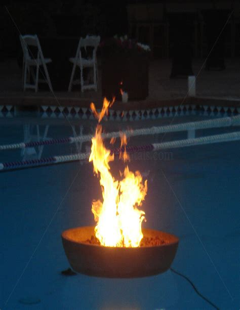 floating pit outdoor pit rentals torch bbq grill rentals