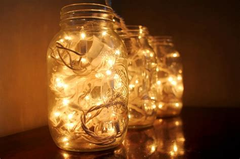 How To Make Mason Jar Fairy Lights Mason Jar Crafts Light Jar