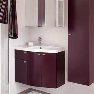meubles salle de bains couleur aubergine malice espace