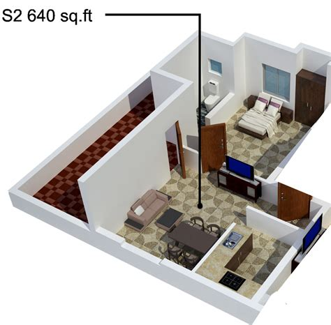 640 square feet 640 sq ft 1 bhk 1t apartment for sale in s promoters