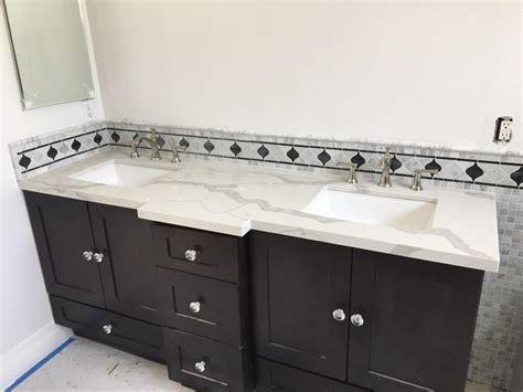 Quartz Countertops Bathroom Vanities Espresso Shaker Bathroom Vanity Cabinets With Calacatta Gold Quartz Countertop For Nushin Orange