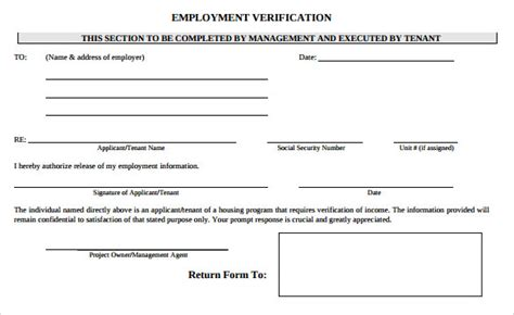 Snap Verification Letter Nyc employment verification form 8 documents in pdf