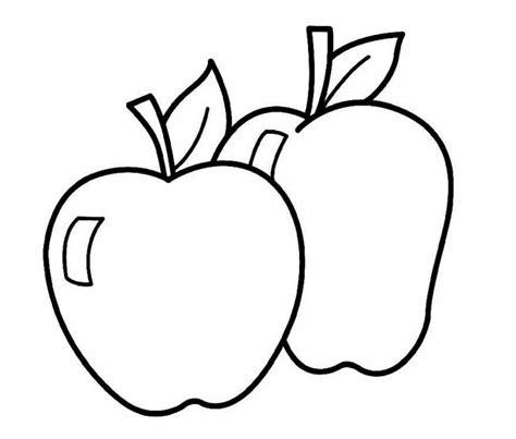 imagenes para colorear manzana dibujos de manzana para colorear e imprimir