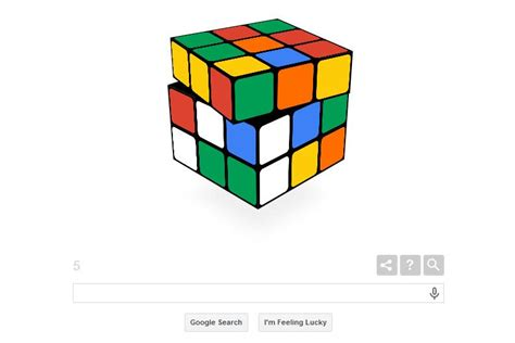 doodle rubik cube pays tribute to rubik s cube 40th anniversary on