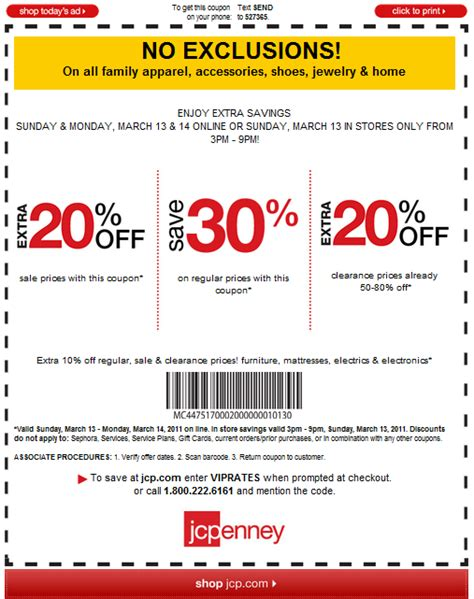 jcpenney salon coupons printable 2011 shop 3 9pm jcpenney today 3 13 w this store coupon and
