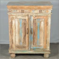 Home artisan collection farmhouse reclaimed wood 2 door rustic cabinet