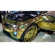 GOLD CHROME CAMARO ZL1 Lifted On 30 Forgiatos