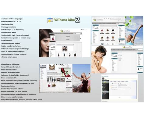 Prestashop Theme Editor | cosmetics prestashop template with theme editor