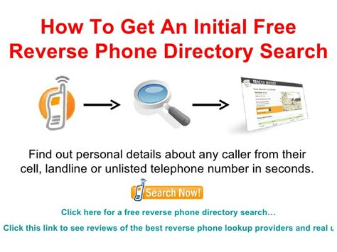 how to get a free phone directory search