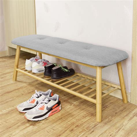 Shoe Rack With Cushion Seat by Sobuy 174 Hallway Shoe Rack Seat Bench Bed End Bench With