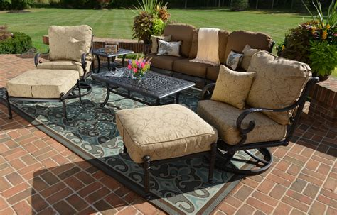 amalia 7 luxury cast aluminum patio furniture