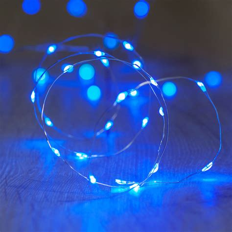 blue battery operated lights 20 blue led micro battery fairy lights lights4fun co uk