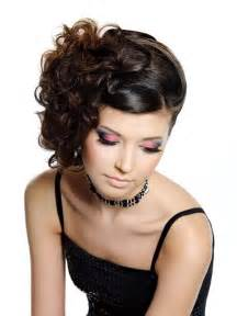 curly side hair side swept curly updo hairstyle vip hairstyles