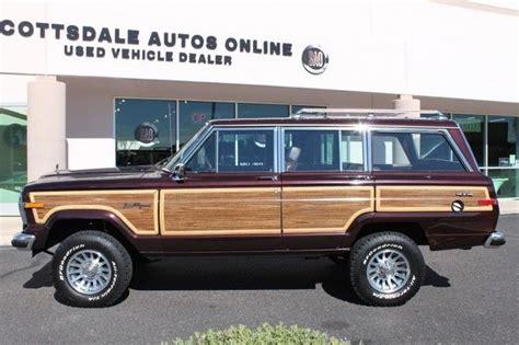 jeep wagon black 1989 jeep grand wagoneer limited 4x4 77351 miles black