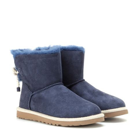 ugg boot sneakers lyst ugg selene suede boots in blue