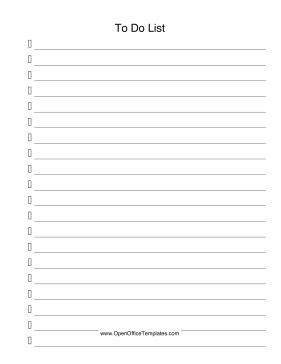 To Do List Openoffice Template Open Office Checklist Template