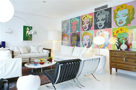 Andy Warhol Bedroom by Eclectic Decor And Vivacious Color Shape Cheerful Home In