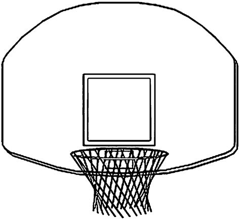 basketball backboard coloring page basketball net coloring page wecoloringpage az