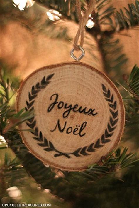 hometalk personalized wood slice christmas ornaments gifts