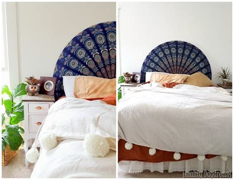 upholster a headboard rounded upholstered boho headboard reality daydream