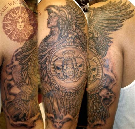 aztec warrior tattoo aztec warrior tattoos allcooltattoos