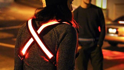 lights you can wear this glowing led bike light you can wear keeps you safe on