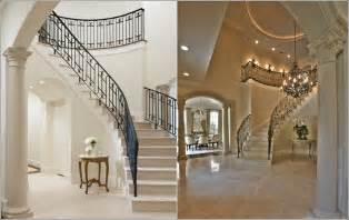 Large Foyer Ideas Staircase Decor Modern Wooden Interior Stair Railing