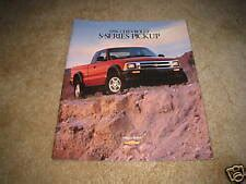 1996 Chevrolet S 10 Ls Zr2 Ss Pickup Truck Sales Brochure