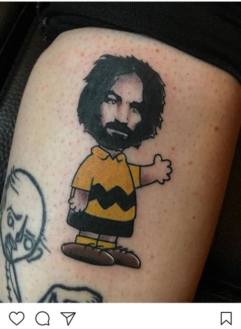 charles manson tattoo charles tribute after finding out he