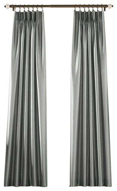 marquee drapes marquee pinch pleat curtain panel pewter 30 quot x144