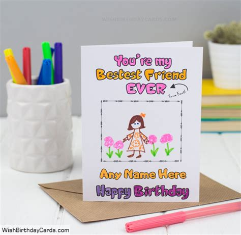 Best Handmade Birthday Cards For Friends - free handmade birthday cards for best friends with name