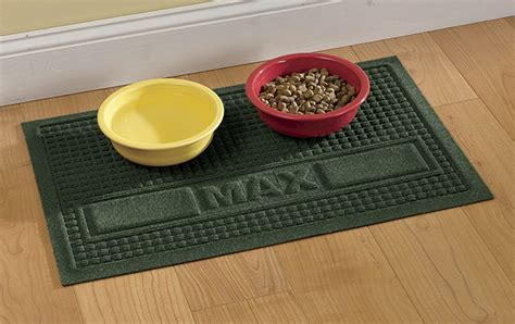 Rubber Food Mat - food mat personalized water trapper 174 pet placemat