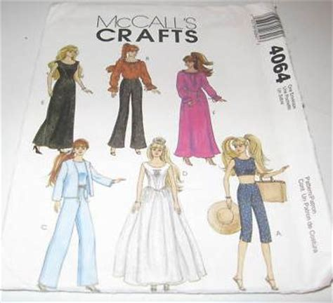 mccalls crafts barbie doll pattern 4064 | www