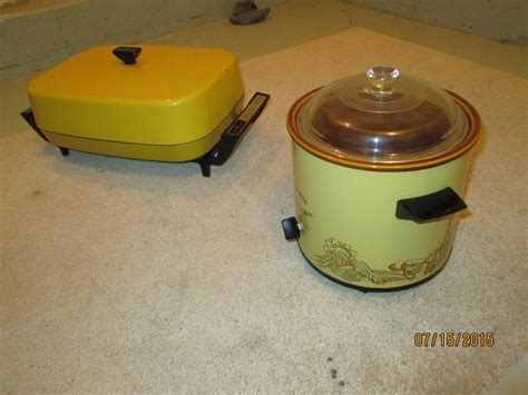 vintage crock pot and buffet server victoria city