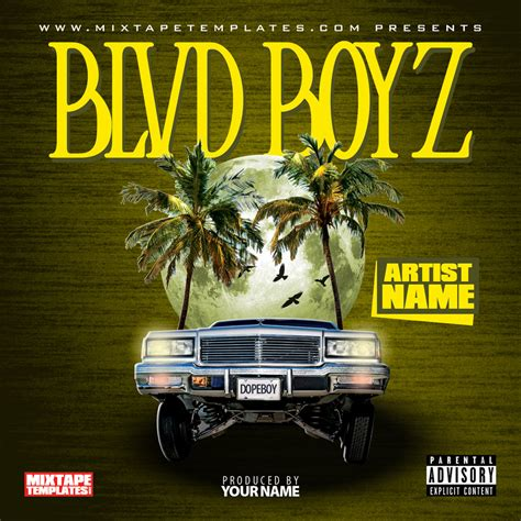 mixtape design templates blvd boyz mixtape cover template by filthythedesigner