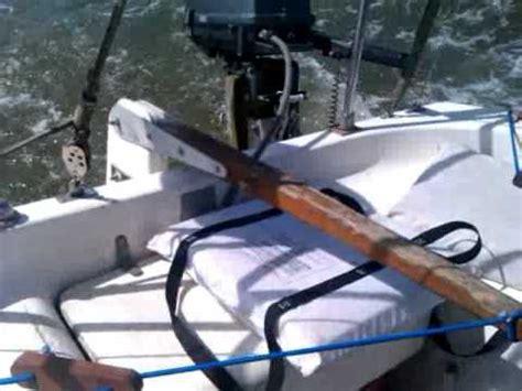 sailboat tiller teak and bungee sailboat self steering tiller lock youtube