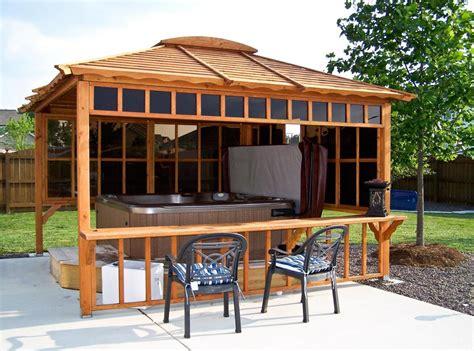 Screen Curtains For Patio Doors Tub Enclosure Kits Tub Pavilion Kit Made Of Redwood