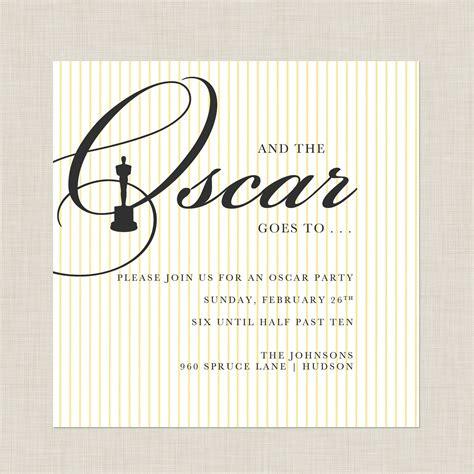 Oscar Invitation Templates Oscar Awards Invitation Template