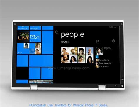 Tablet Os Windows new windows phone 7 os tablet concept photos