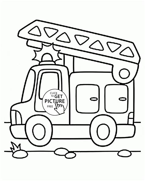 free printable vire coloring pages cartoon fire truck coloring page for preschoolers