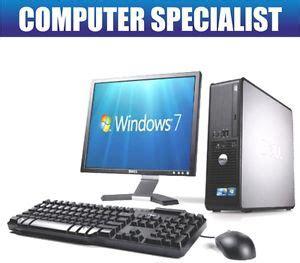 ordinateur de bureau avec wifi dell dual ordinateur de bureau tour pc 17 quot tft