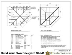 House Plans With Hip Roof Styles 10x10 5 sided corner shed plans