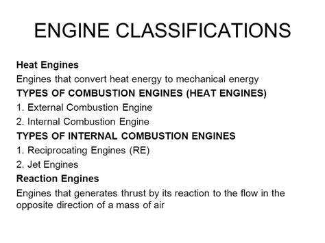 Car Engine Types And Classification by Heat Engine Heat Engine And Its Types