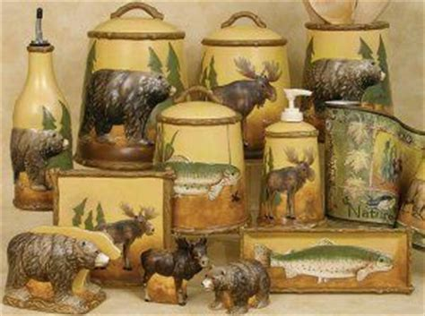 kitchen outstanding rustic kitchen canister set rustic bear kitchen canisters cabin kitchen accessories lodge