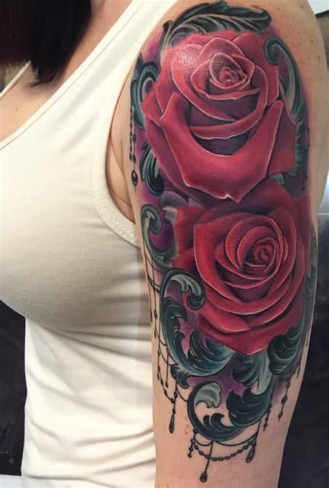 tattoo rose auf dem oberarm tattoo vorlagen bilder