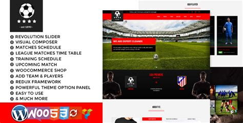 drupal soccer theme football club soccer wordpress theme by thejkthemes