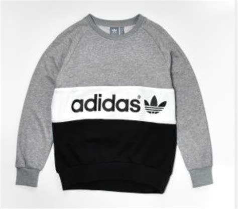 Jaket Cowo Jumper Hoodie Grey X Blue Original Sweater Adidas Grey Blue White Jumper Hoody Black