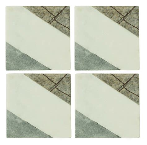 marble wholesale wholesale fused marble set of 4 coasters handmade square