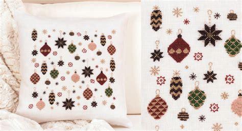 cuscino a punto croce cuscino natalizio a punto croce arte ricamo