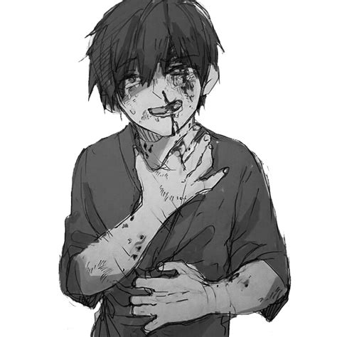 anime animeboy sad pain edgy gore scary idk emo